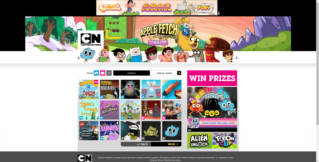 Cartoon Network UK Website