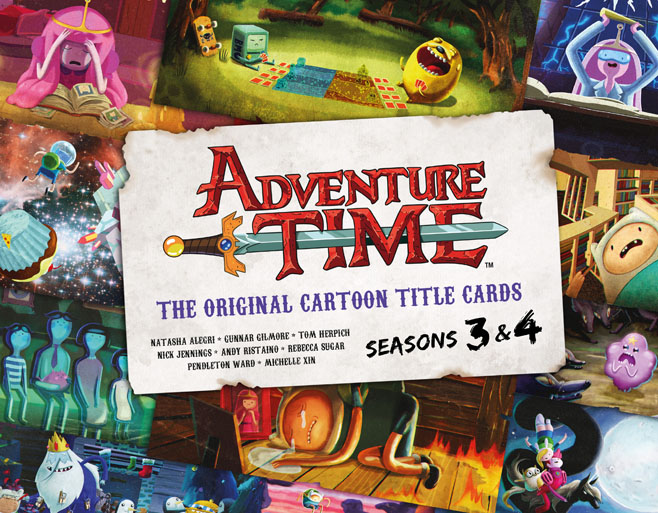Adventure Time Title Cards Seasons 3 And 4 Art Book