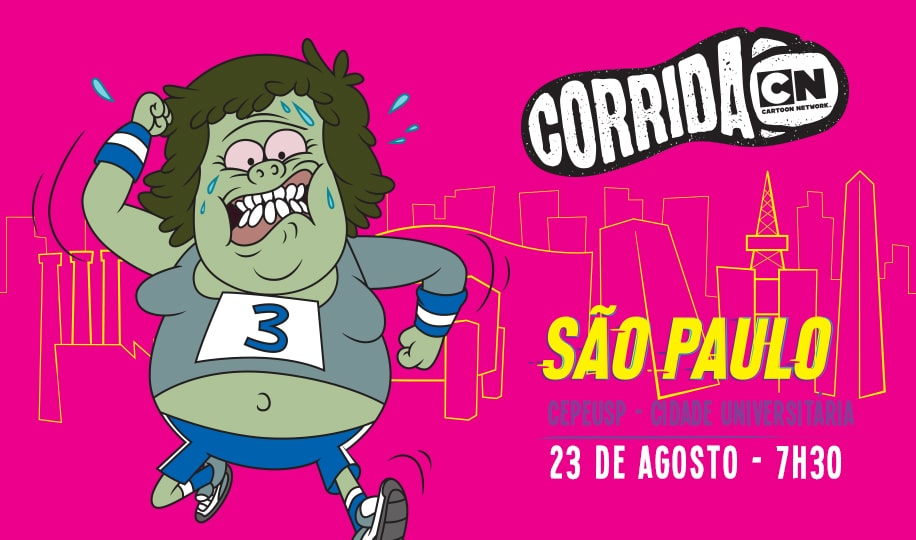 Corrida Cartoon Network Running Event In São Paulo Today