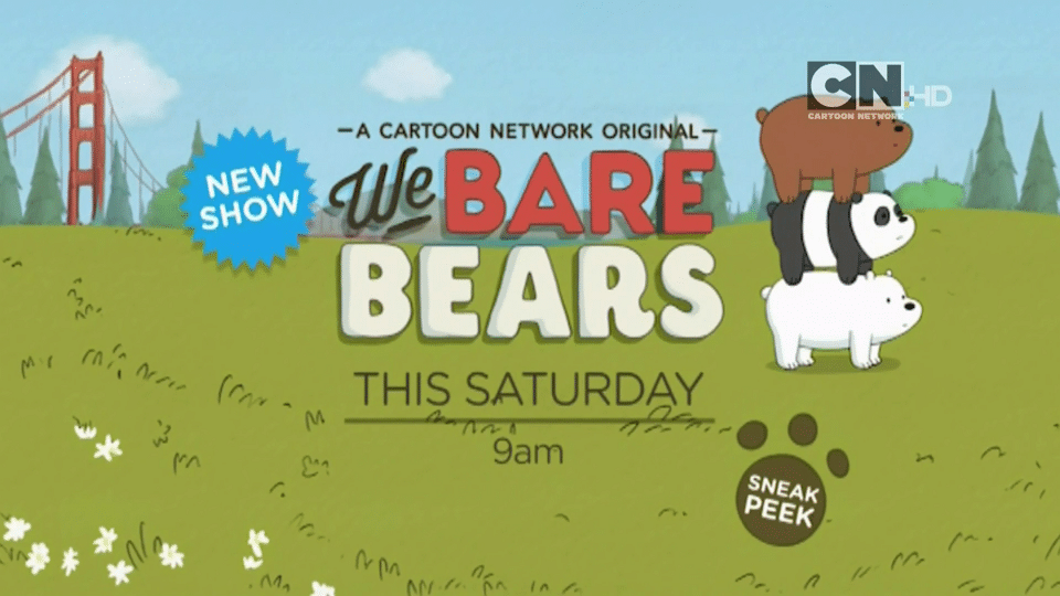 Cartoon Network UK We Bare Bears Sneak Peek This Saturday (29/08/2015)