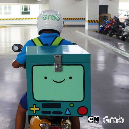 Cartoon Network And Grab Partner For Adventure Time Themed Delivery Bikes