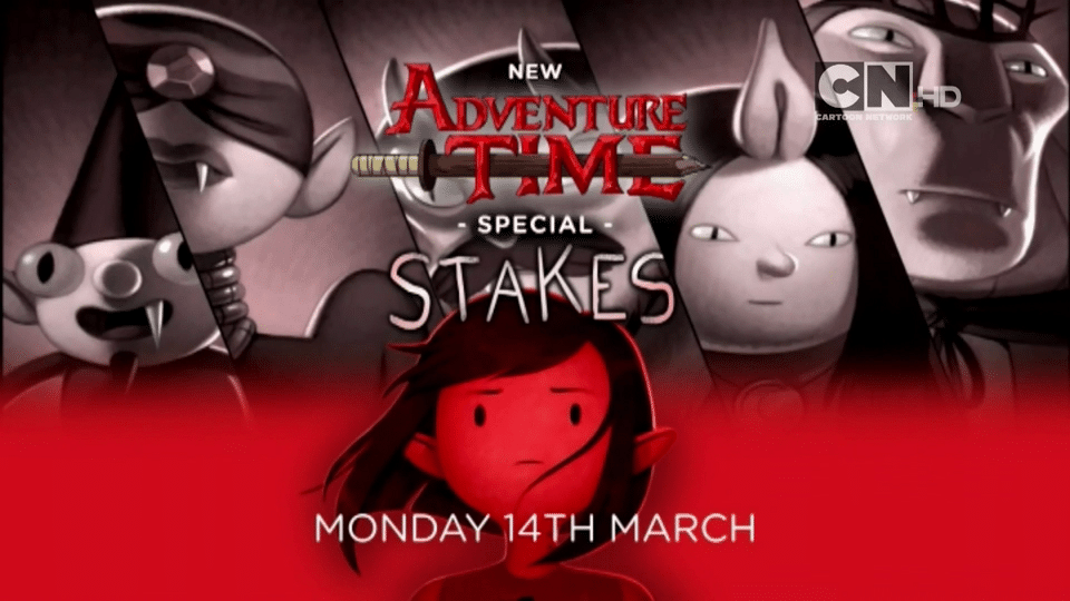 Cartoon Network UK Adventure Time Stakes Promo Now Airing