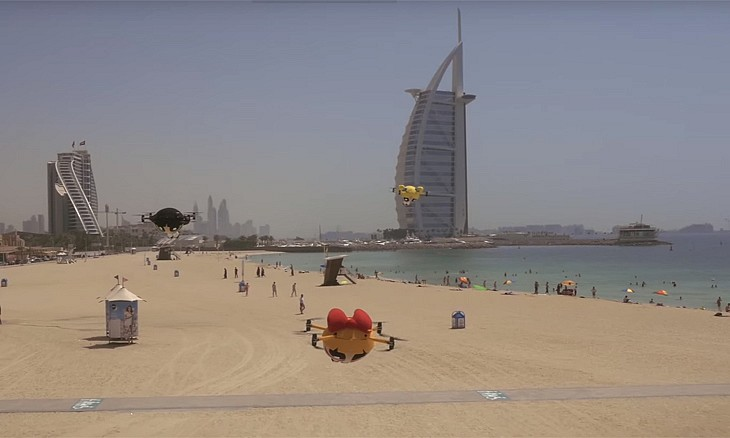 The Powerpuff Girls Fly Around In The Sky In Dubai