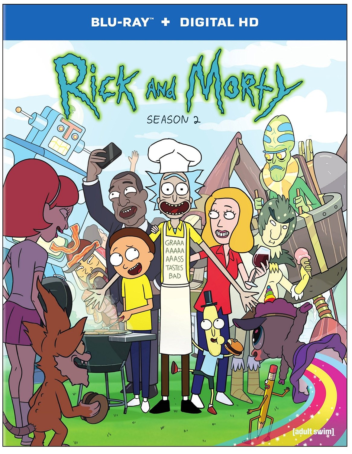 Adult Swim USA Rick And Morty Season 2 DVD And Blu-ray Available From 6th June