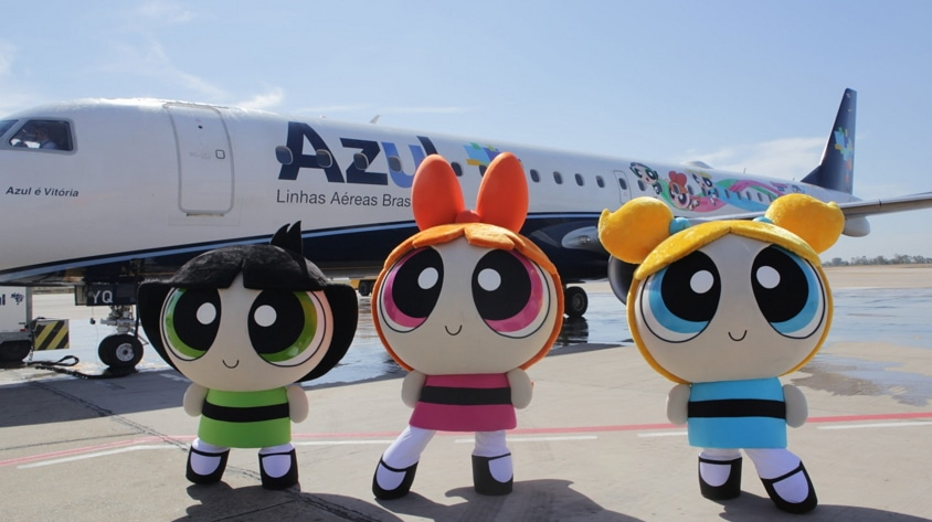Cartoon Network Partners With Brazilian Airline Azul For Powerpuff Girls Branded Plane