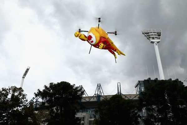 Ben 10 Drone Flies At Foxtel Footy Festival In Australia