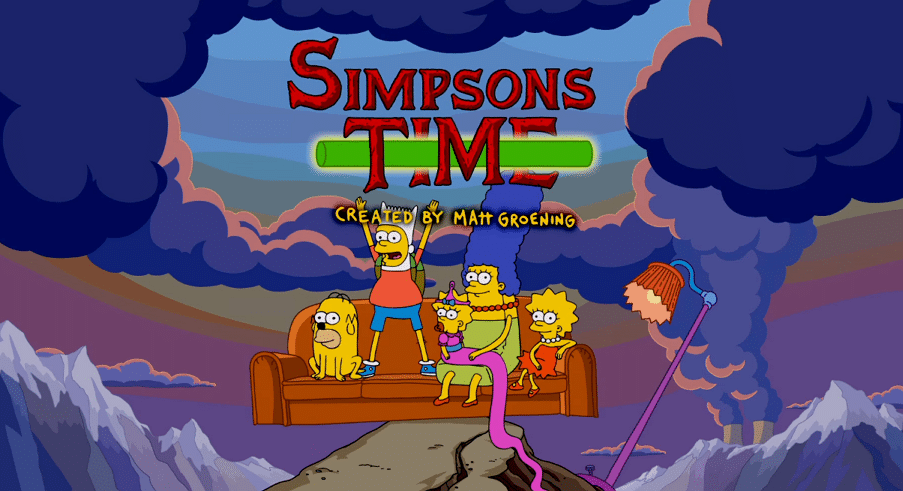 The Simpsons New Couch Gag Parodies Adventure Time