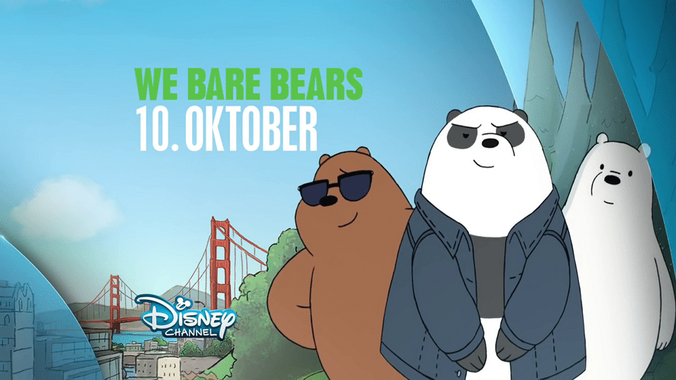 We Bare Bears To Premiere On Disney Channel Germany 10th October