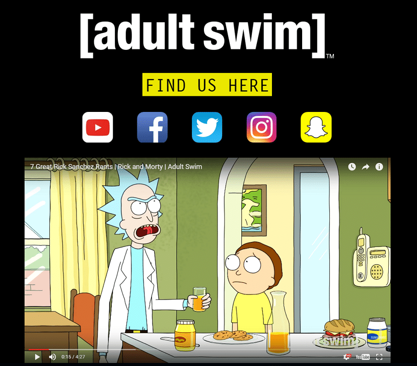 Adult Swim UK's New Website