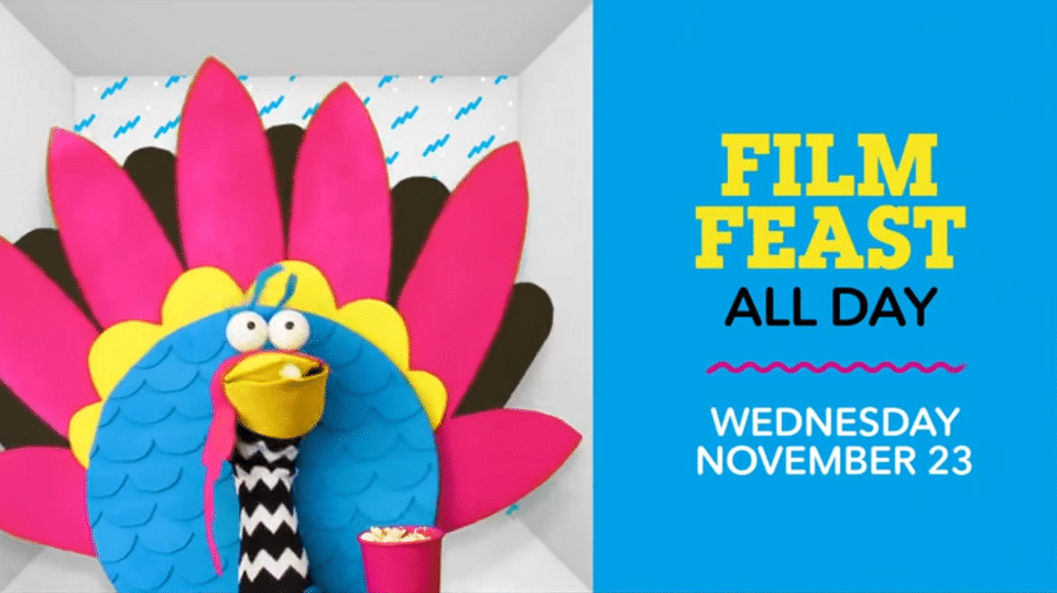Cartoon Network USA Film Feast Thanksgiving Movies Wednesday 23rd November