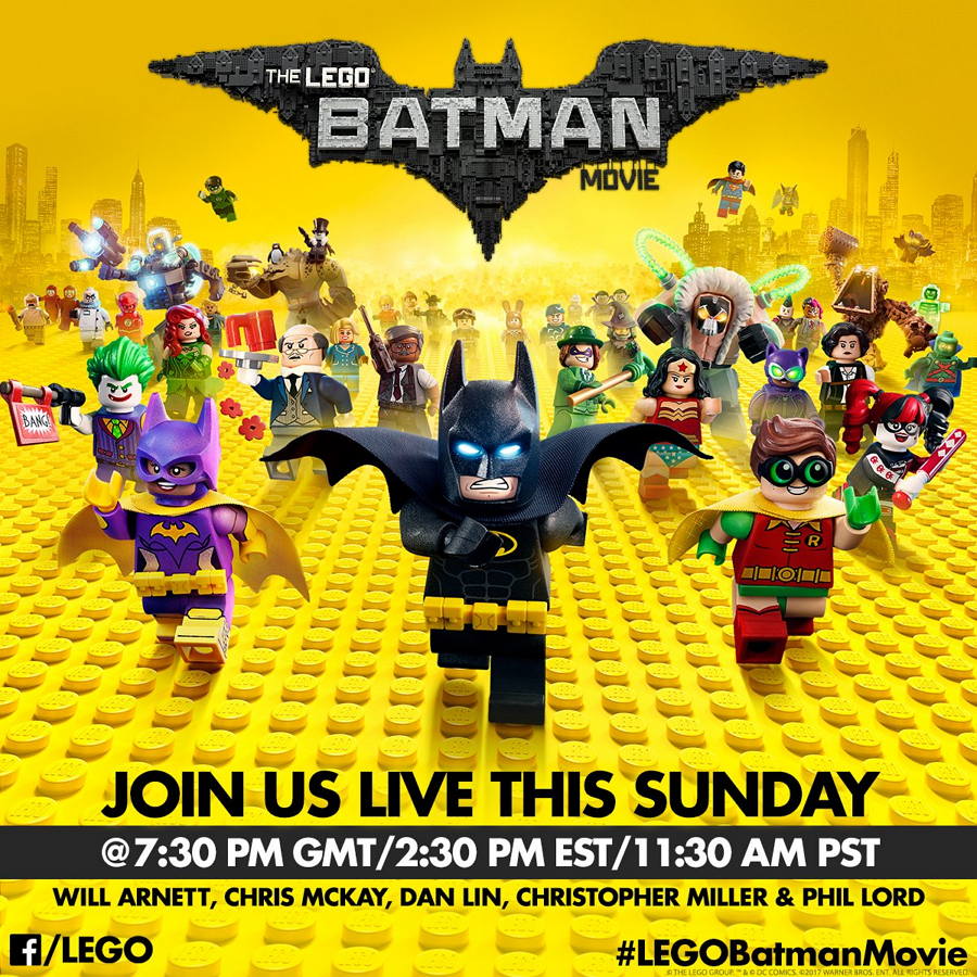 The Lego Batman Movie Cast And Crew Live Chat 22nd January