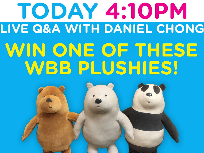 Cartoon Network UK We Bare Bears Creator Daniel Chong Facebook Live Session