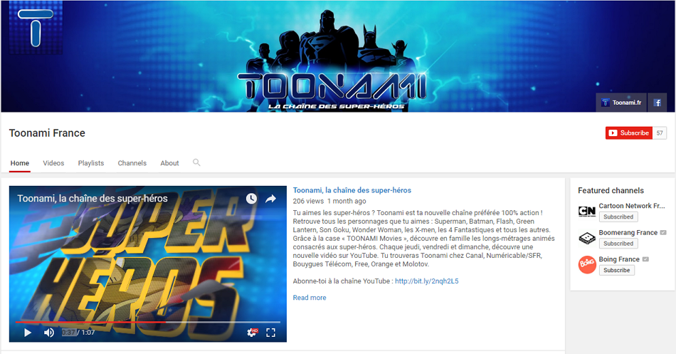 Toonami France's New YouTube Channel