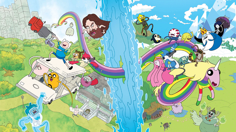Adventure Time And Regular Show Comic Crossover Starts This August
