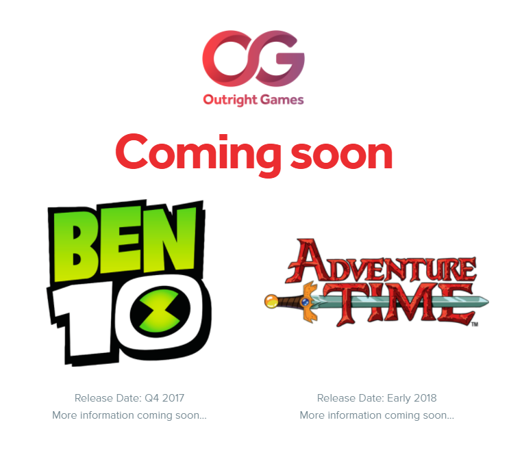 Outright Games Developing New Adventure Time And Ben 10 Console And PC Games