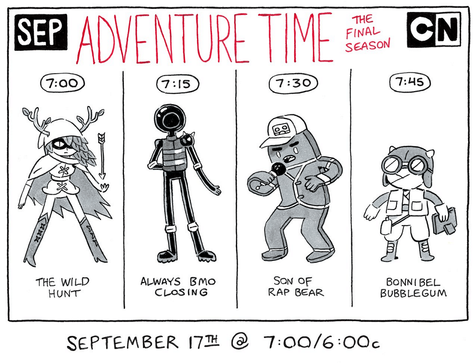 Cartoon Network USA Adventure Time Four New Episodes Tonight 17th September