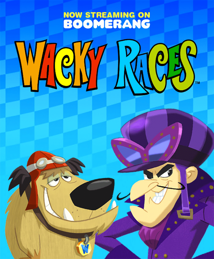 New Wacky Races Series Now On Boomerang USA Streaming Service