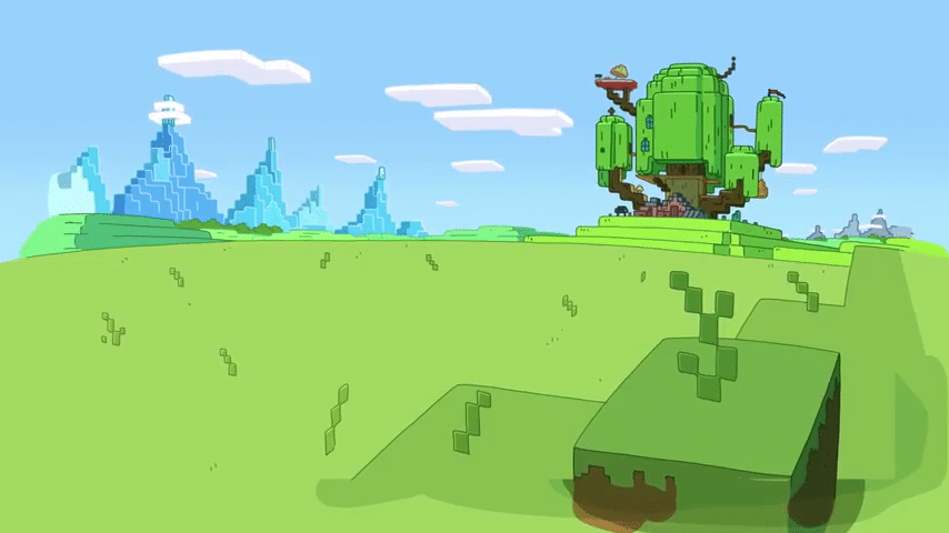 Cartoon Network USA Adventure Time Minecraft Special Sneak Peek
