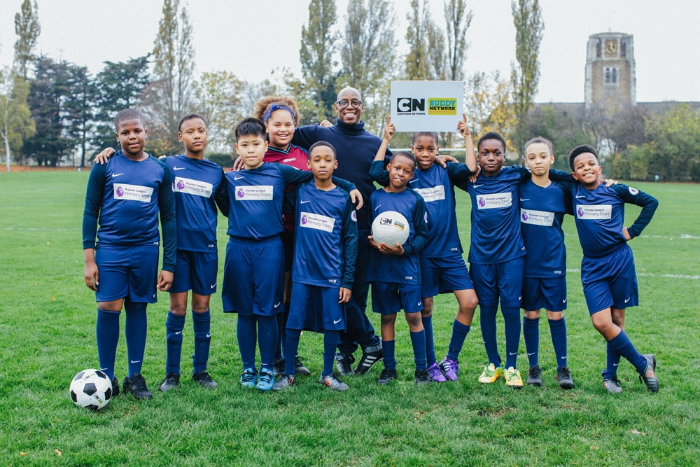 Cartoon Network UK Teams Up With Former Footballer Ian Wright For 2017's Cartoon Network Buddy Network Anti-Bullying Initiative