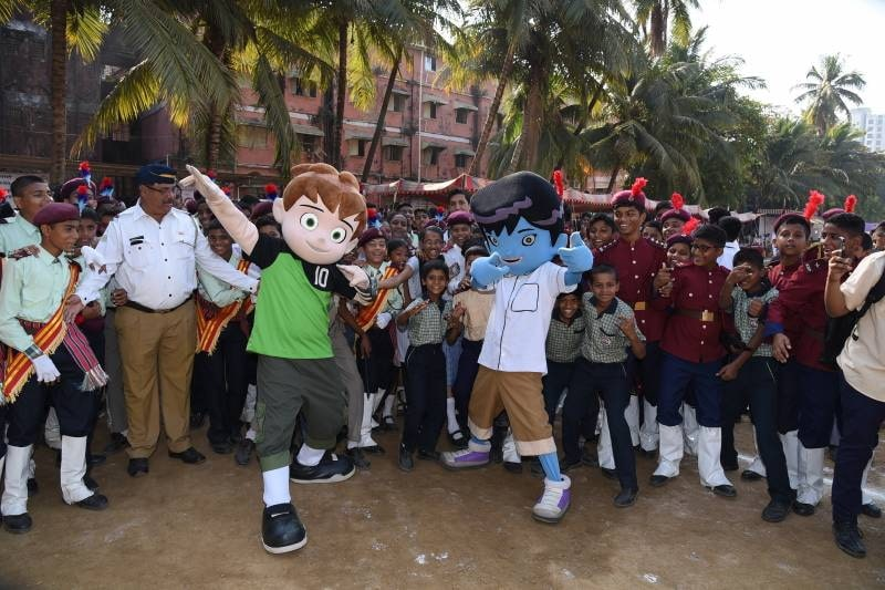 Cartoon Network India Supports Mumbai Traffic Police's Child Road Safety Campaign