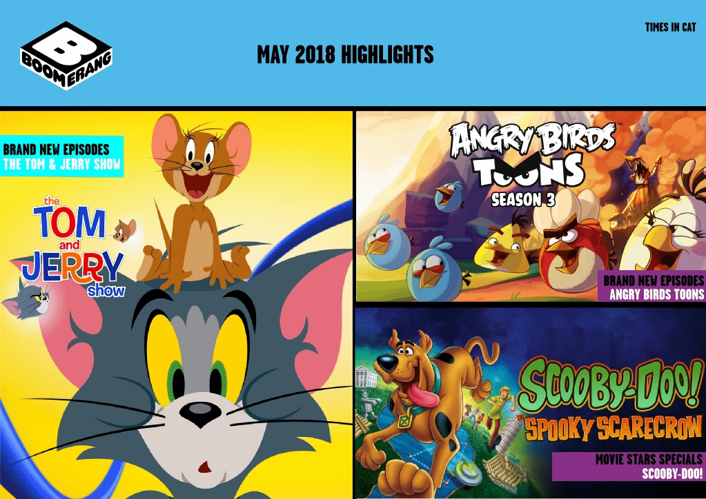 Cartoon Network Africa And Boomerang Africa May 2018 Highlights