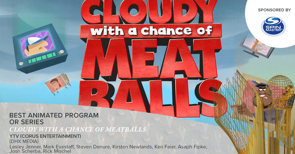 Cloudy With A Chance Of Meatballs The Series Wins Two 2018 Canadian Screen Awards