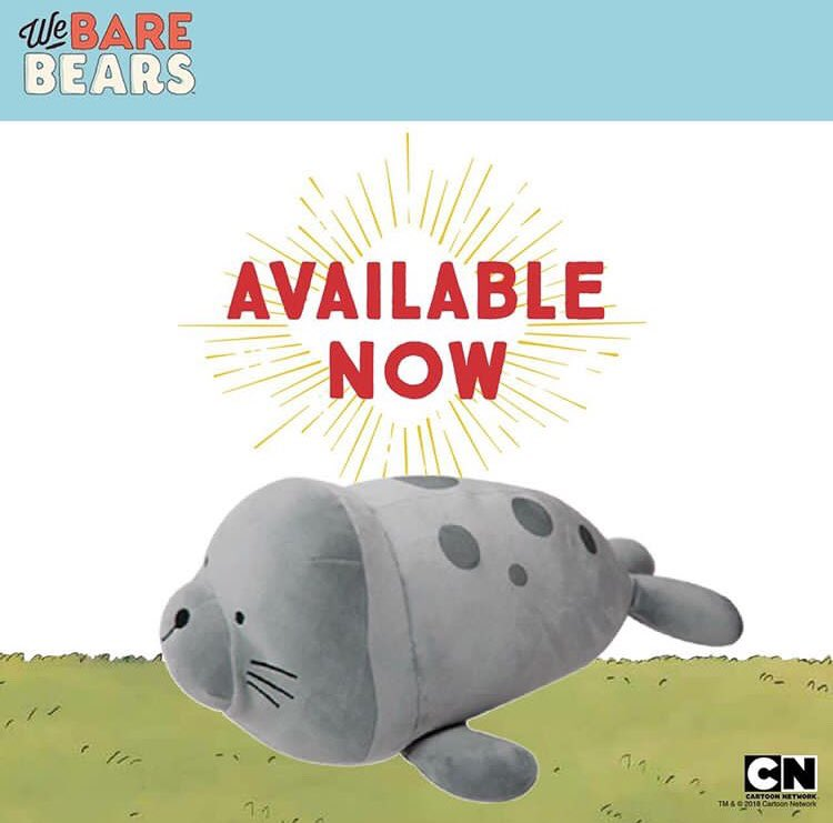 We Bare Bears Plush Seal Toy Now Available