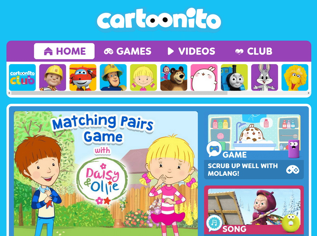 Cartoonito UK New Website 2018