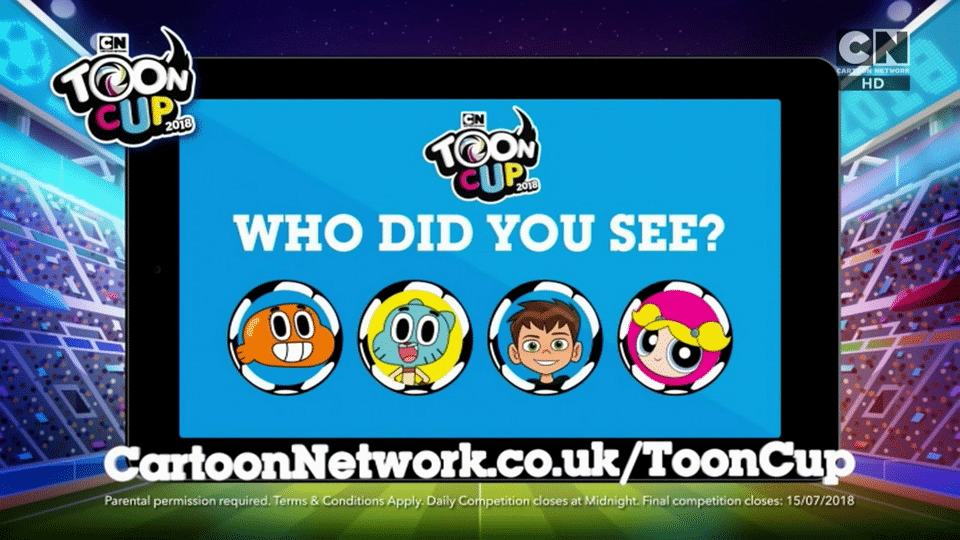 Cartoon Network UK Toon Cup 2018 Competition