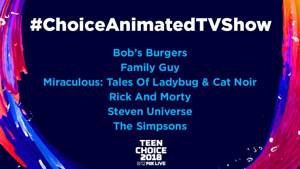 Steven Universe Nominated For A 2018 Teen Choice Award For Choice Animated TV Show