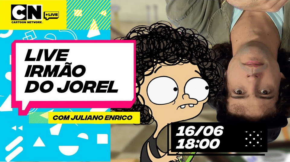 Cartoon Network Brazil Live Stream With The Creator Of Jorel's Brother Juliano Enrico Today 16th July