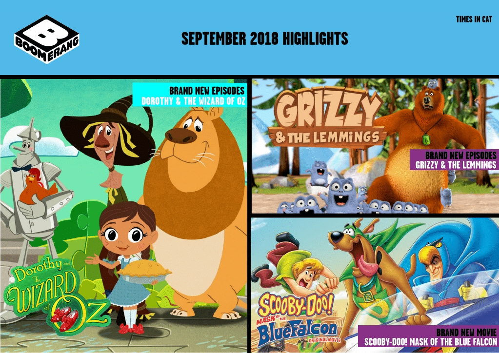 Cartoon Network Africa And Boomerang Africa September 2018 Highlights