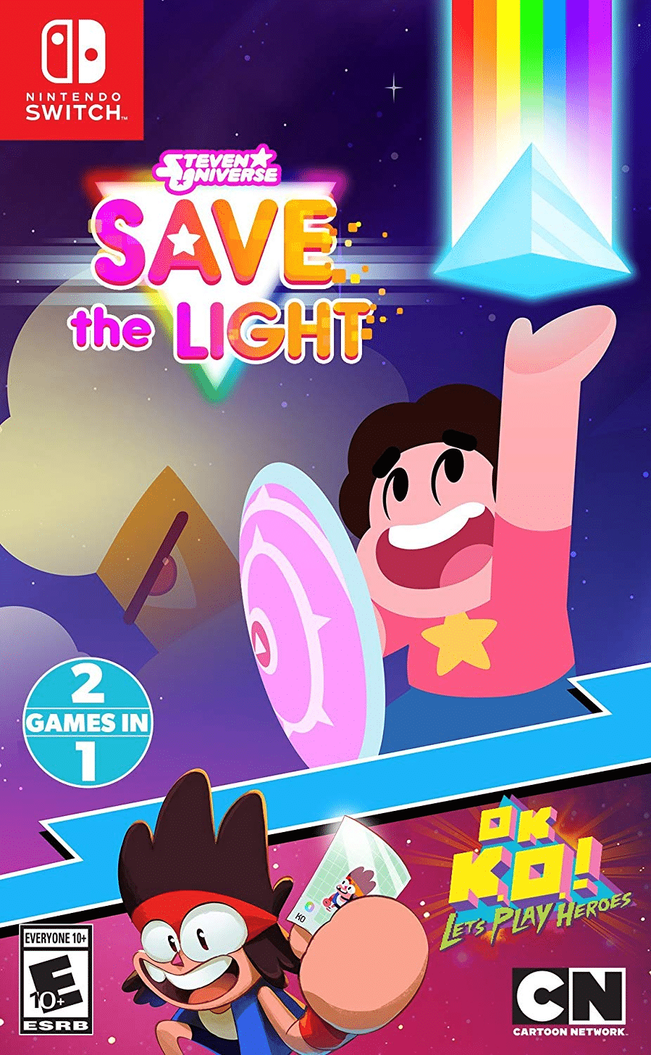Steven Universe Save The Light And OK K.O.! Let's Play Heroes Video Games To Be Released As A Two In One Bundle Also For Nintendo Switch