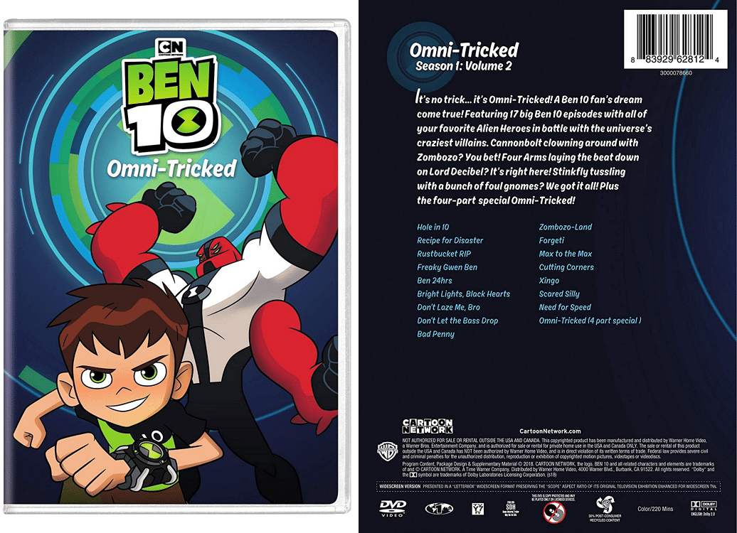 Ben 10 Omni-Tricked DVD To Be Released In The United States On 18th September