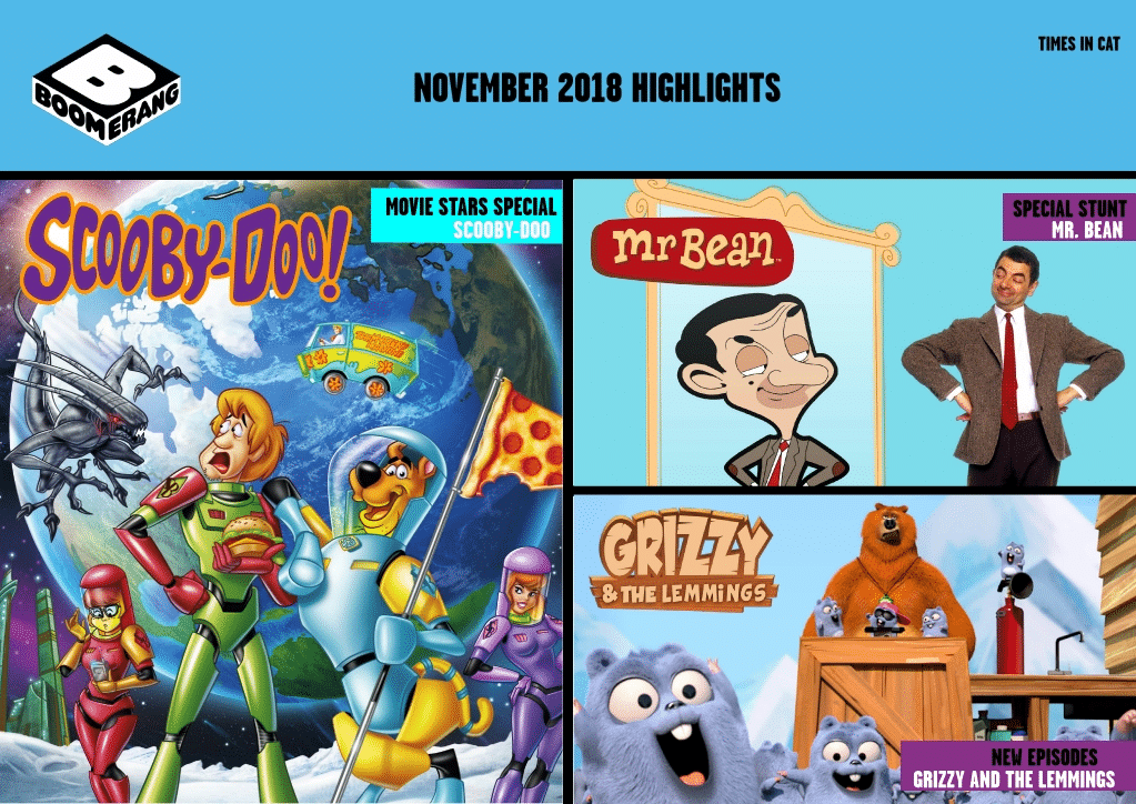 Cartoon Network Africa And Boomerang Africa November 2018 Highlights