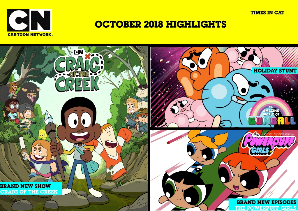 Cartoon Network Africa And Boomerang Africa October 2018 Highlights