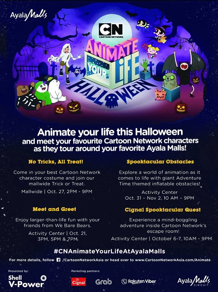 Cartoon Network Philippines Animate Your Life Halloween Event At Ayala Malls