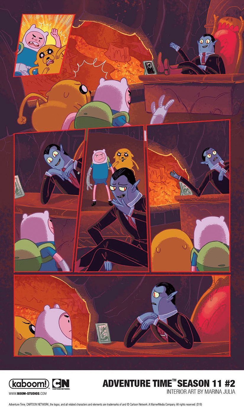 Adventure Time Season 11 Comic Issue Two: Finn and Jake Reunite With Marceline's Father