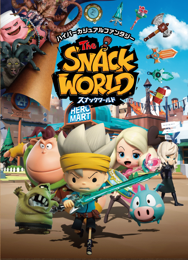 Cartoon Network Asia-Pacific Acquires Broadcasting Rights To Level-5's The Snack World Animated Series