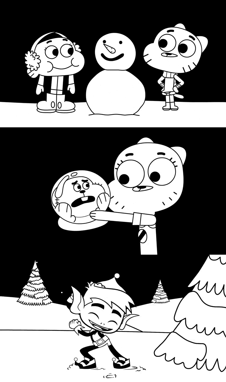 Cartoon Network USA Christmas Colouring Book Mashup