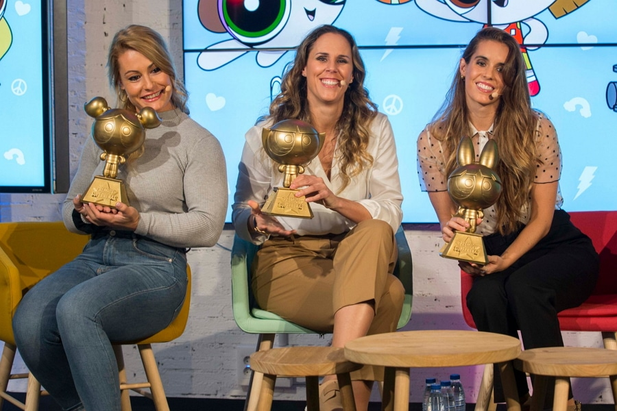 Cartoon Network Spain Awards Three Women Athletes Powerpuff Girls Awards