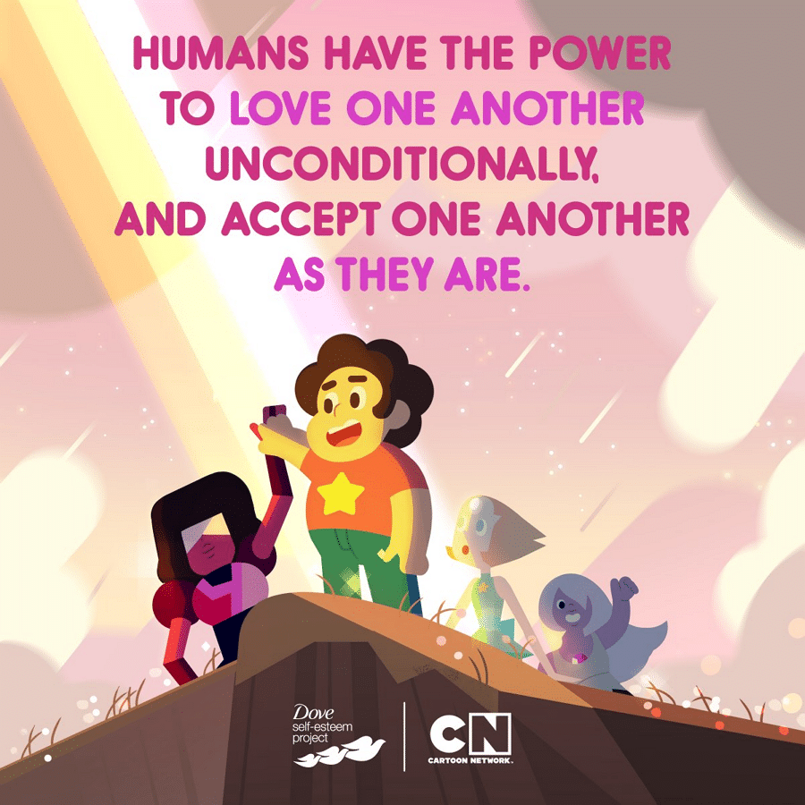 Cartoon Network's Partnership With The Dove Self-Esteem Project Continues With A New Steven Universe Themed E-book Your Magic Mind and Body