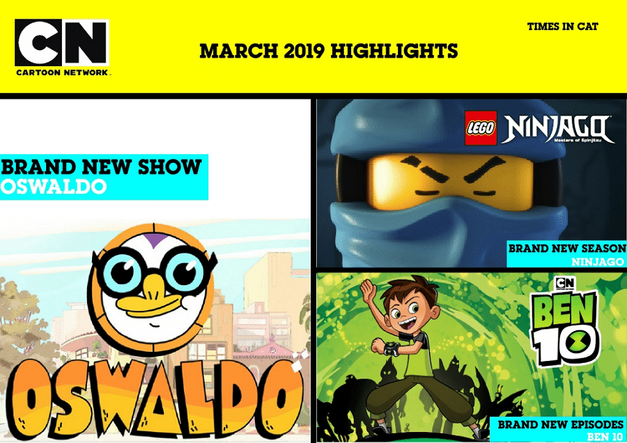 Cartoon Network Africa And Boomerang Africa March 2019 Highlights