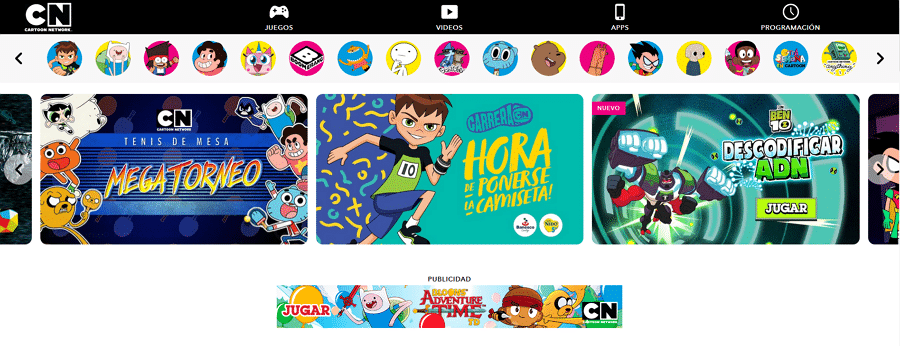 Cartoon Network Latin America's New Website