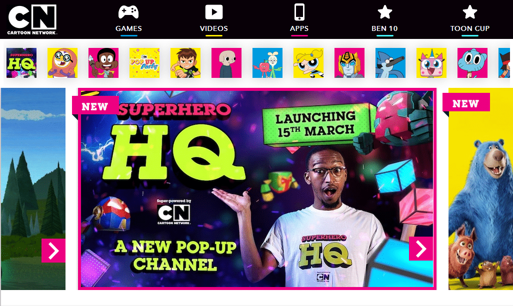 Cartoon Network Africa's New Website