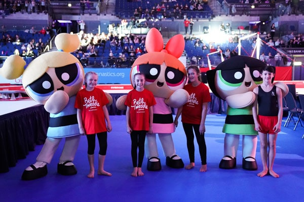 The Powerpuff Girls POW! Academy At The 2019 British Gymnastics Championships