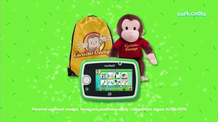 Cartoonito UK Curious George Watch And Win April 2019 Competition